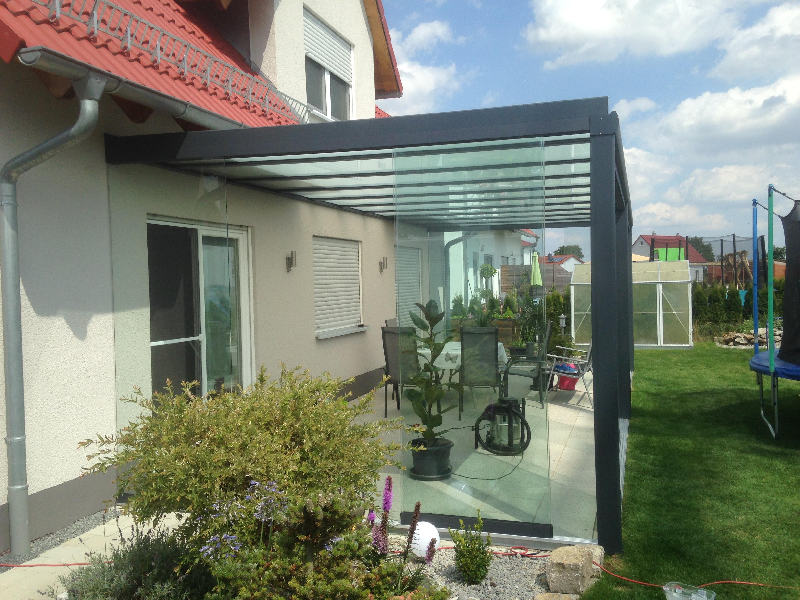 heroal terrassen berdachung aus aluminium wintergarten vsg ohne montage ebay. Black Bedroom Furniture Sets. Home Design Ideas